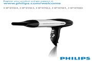 PHILIPS HP4980电吹风 使用手册