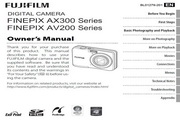 富士FinePix AX355数码相机 使用说明书