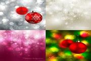 圣诞彩球背景矢量图