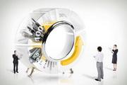 創意商務導航模型PSD