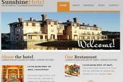 阳光饭店网站模板flash整站素材