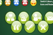 flash綠色網頁按鈕圖標源碼