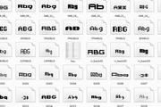 60种常用英文字体打包下载段首LOGO
