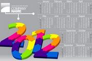 2012年日历矢量图素材