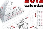 2012年台历日历模板矢量素材
