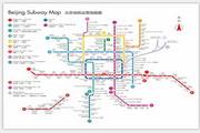 矢量北京地铁运营线路图