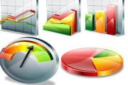 3D数据统计图标矢量素材