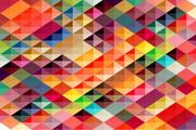 彩色方格背景矢量