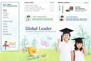 学校教育类网站模板psd分层