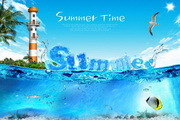 Summer夏日海报源文件设计