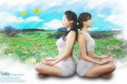 健身瑜伽海报设计psd素材