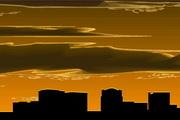 矢量夕陽風景素材10