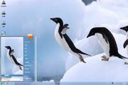 飞翔企鹅win7主题