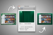 Desktop Curtain for MACLOGO