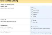 SharePoint Wiki Redirect