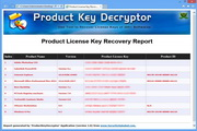 Product Key Decryptor