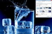 Ice in Water Windows 7 Theme