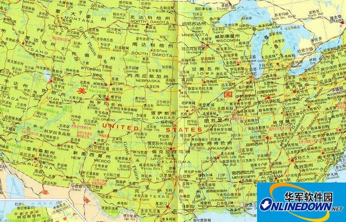 美国地图中文版全图截图1