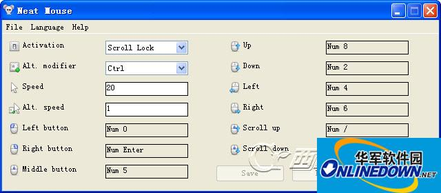 键盘操作鼠标(NeatMouse)截图1