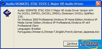 sigmatel声卡驱动(sigmatel high definition audio codec驱动)截图1