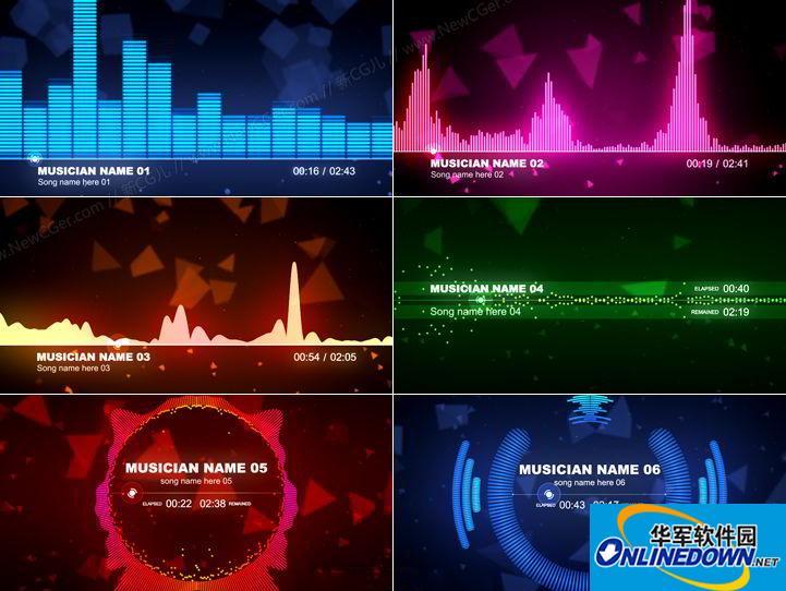 AE可视化音乐播放器截图