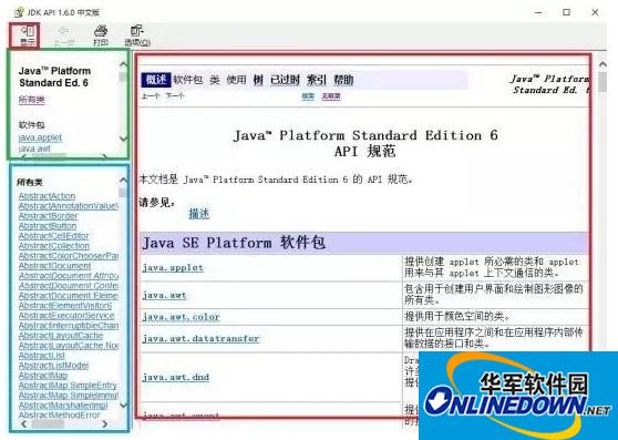 JAVA API 1.7文档截图
