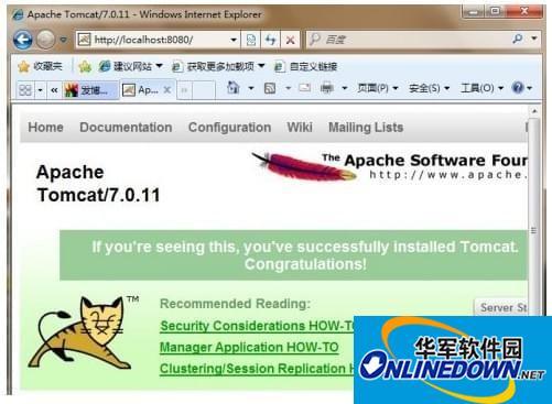 Apache Tomcat8.5截图