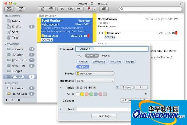 MailTags for mac截图
