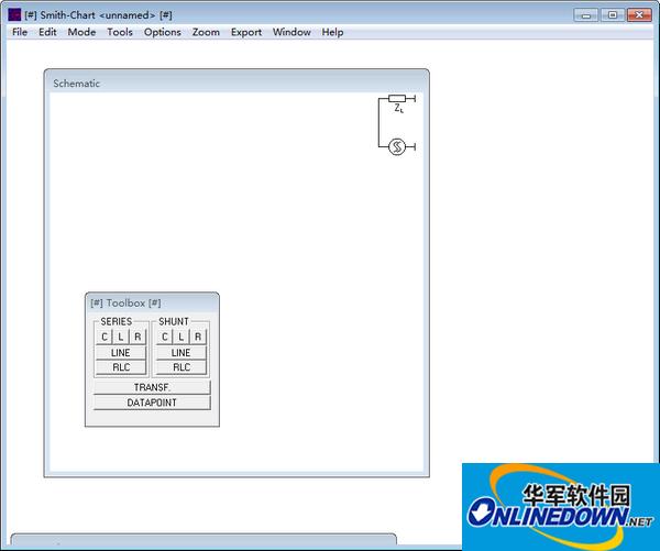 smith圆图阻抗匹配计算软件截图