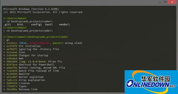 命令行工具Cmder截图