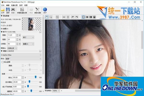 Photozoom Pro图片无损放大软件截图1