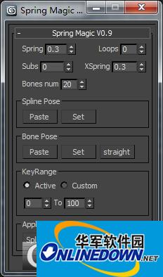 3dmax飘带脚本插件springmagic截图1