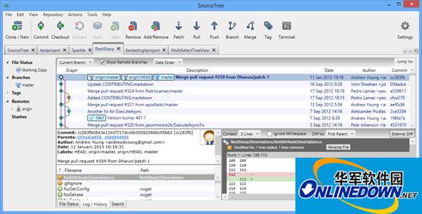 版本控制软件(SourceTree)截图1