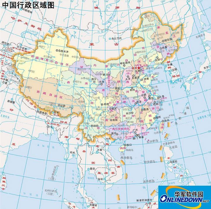 中国地图打包截图