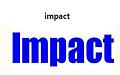 impact字体