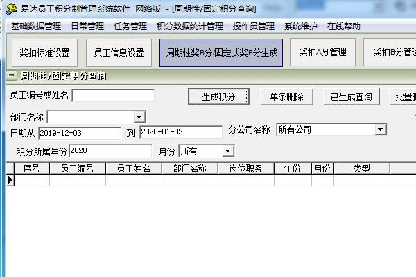 易達員工積分制管理系統軟件