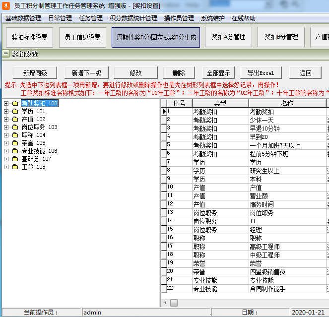 員工積分制管理工作任務管理系統
