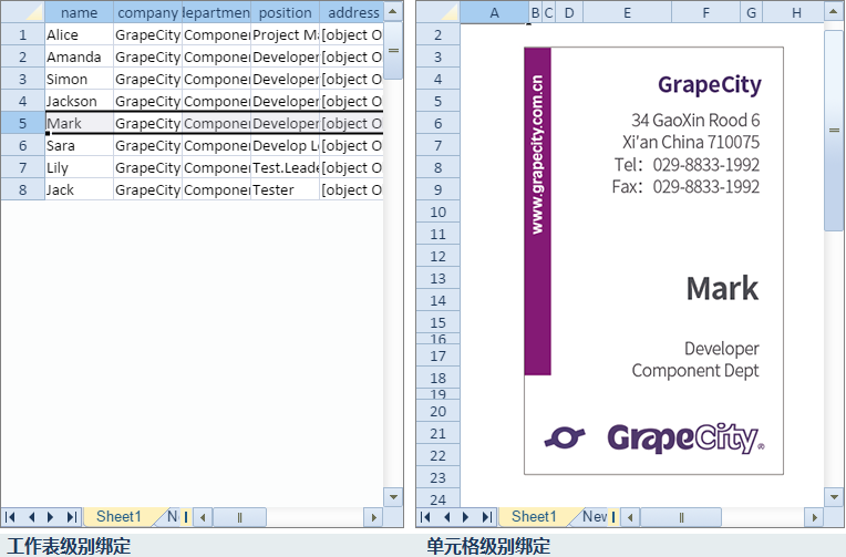 SpreadJS 表格控件軟件