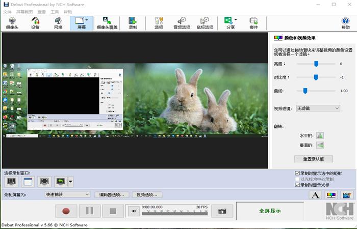NCH Debut视频录制和屏幕捕捉录屏截图软件截图4
