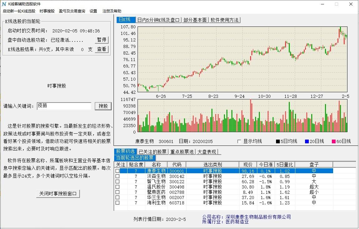 K线客辅助选股软件截图2