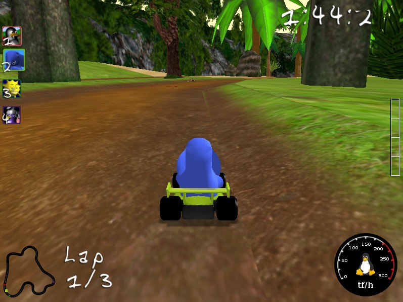 开源免费跑跑车 Super TuxKart for Linux