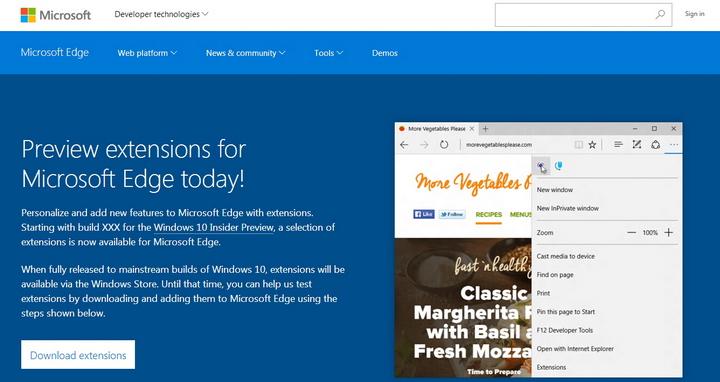 Microsoft Edge浏览器截图2