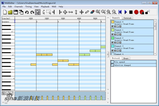 MIDI编辑器 MidiEditor for Linux 64位截图1