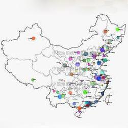 中国地图统计图生成器