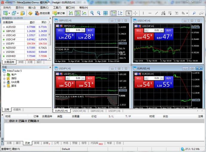 金荣中国MT4黄金外汇交易软件截图1