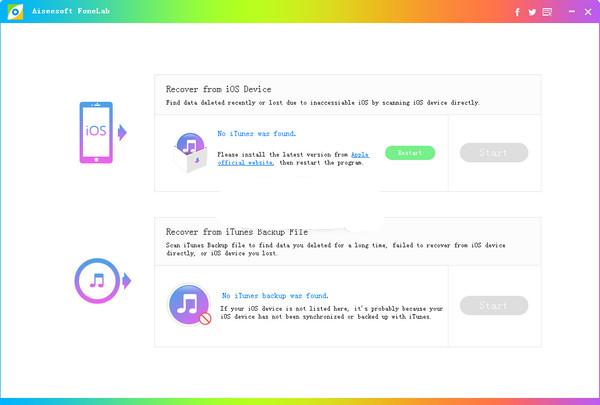 苹果数据恢复软件AiseesoftFoneLab截图