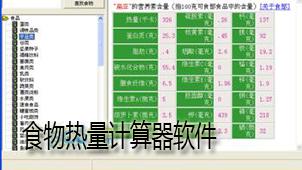 食物热量计算器软件