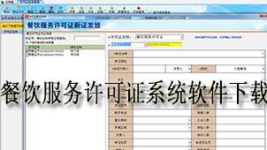 餐饮服务许可证系统软件下载
