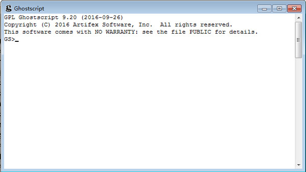 (PostScript解释器)GPL Ghostscript截图1