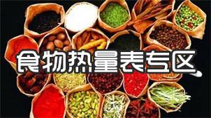 食物热量表专区